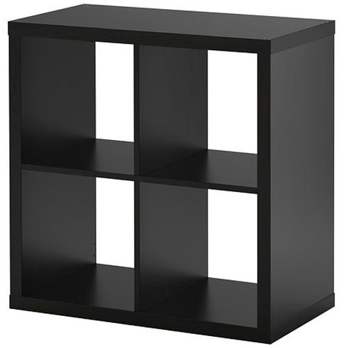 Ikea kallax regal schwarzbraun 77x77x39cm b cherregal for Kallax regal schwarz