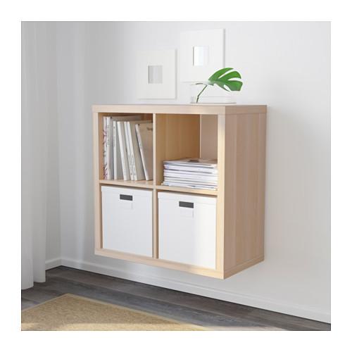 ikea kallax regal eichen nachbildung 77x77x39cm b cherregal wandregal sideboard ebay. Black Bedroom Furniture Sets. Home Design Ideas