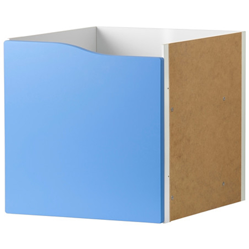 ikea kallax einsatz mit t r blau 33x33 f r expedit kallax regal neu ebay. Black Bedroom Furniture Sets. Home Design Ideas
