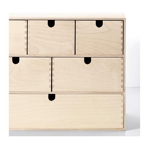 ikea moppe mini kommode holz 6 schubladen 42x18x32cm minikommode kommode ebay. Black Bedroom Furniture Sets. Home Design Ideas