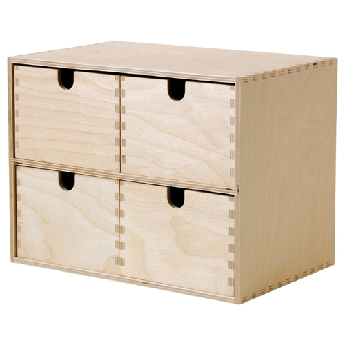 ikea moppe mini kommode holz 4 schubladen 29x18x22cm minikommode kommode ebay. Black Bedroom Furniture Sets. Home Design Ideas