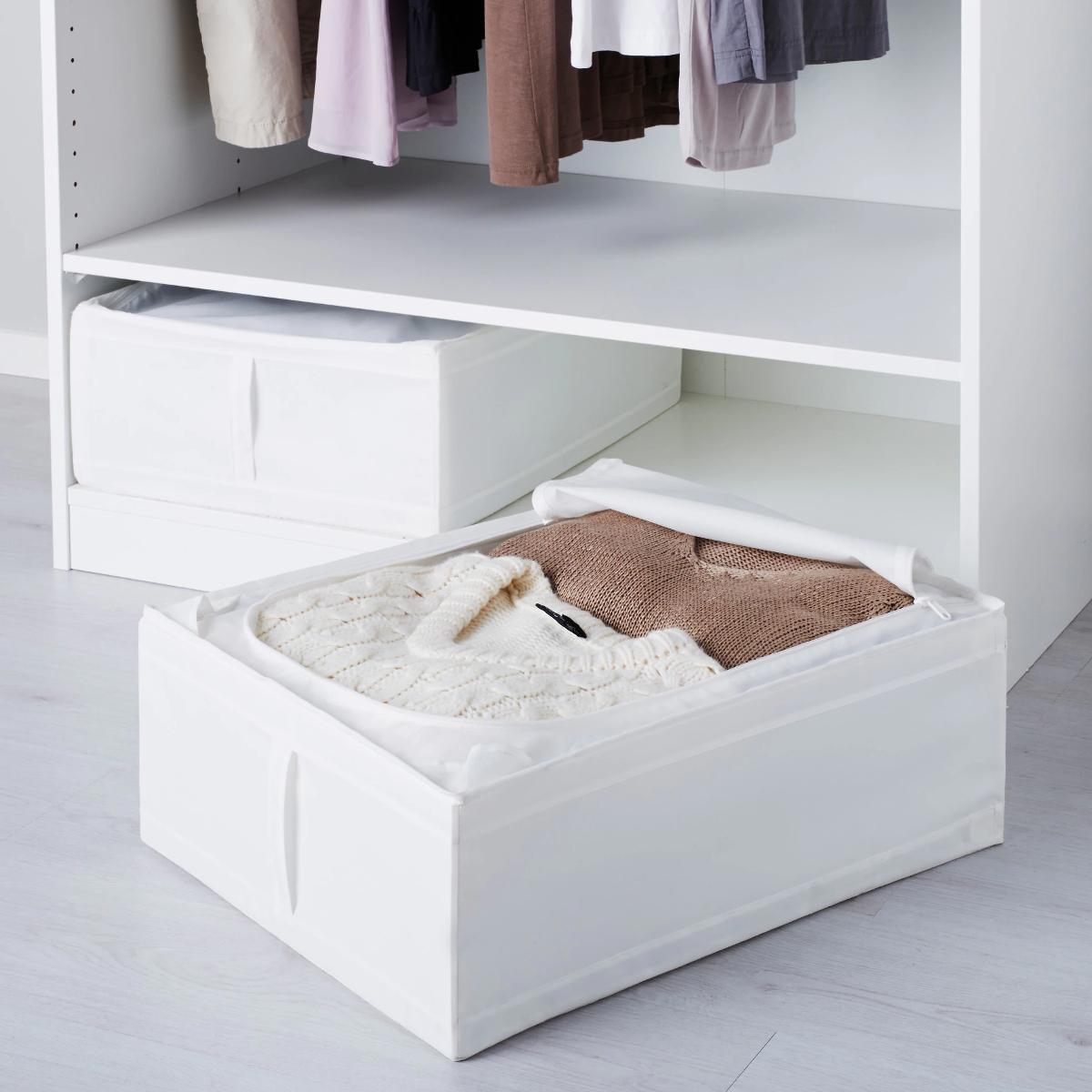 ikea skubb tasche 44x55x19 cm schrankfach box aufbewahrung fach wei neu ebay. Black Bedroom Furniture Sets. Home Design Ideas