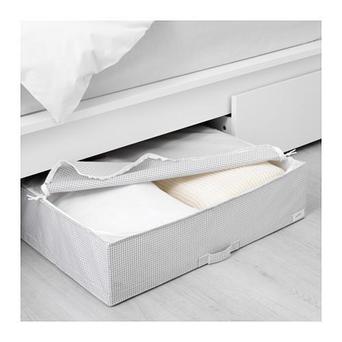 ikea stuk kasten aufbewahrungsbox aufbewahrung unterbett 71x51x18cm wei grau ebay. Black Bedroom Furniture Sets. Home Design Ideas