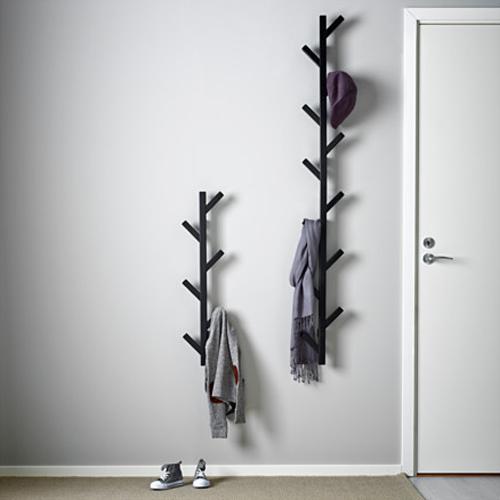 ikea tjusig aufh nger kleiderh nger wandgarderobe. Black Bedroom Furniture Sets. Home Design Ideas