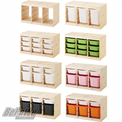 Ikea Regale ikea trofast regal regalrahmen 94x44x52 aus kiefer nach wahl boxen