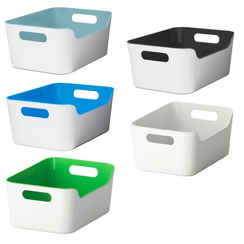 IKEA VARIERA BOX mit Grifföffnungen Aufbewahrung Küchenbox Hochglanz ...