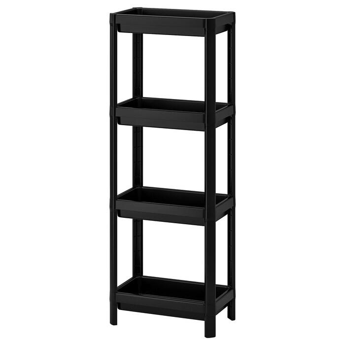 Standregal 36x23x100 cm IKEA VESKEN Regal Badezimmer Fachboden 4-fach Ablalge